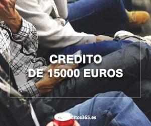 Credito de 15000 euros