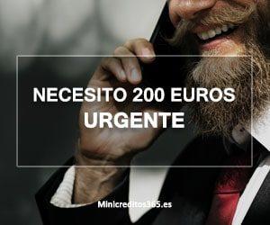 Necesito 200 euros urgente