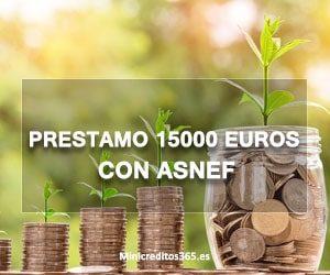 Prestamo 15000 euros con ASNEF