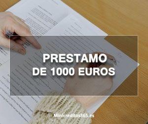Prestamo de 1000 euros