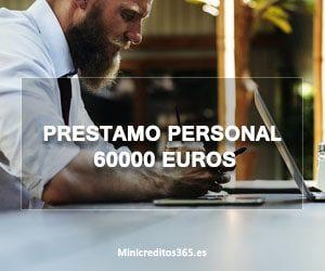 Prestamo personal 60000 euros