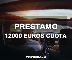 Prestamo 12000 euros cuota