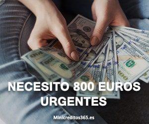 necesito 800 euros urgentes